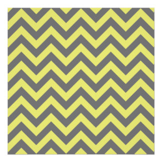 Yellow and Gray Zigzag Posters