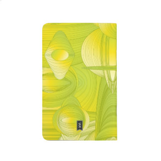 Yellow and Green Art Deco Design Journal