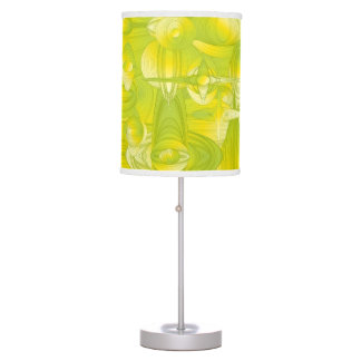 Yellow and Green Art Deco Design Table Lamp