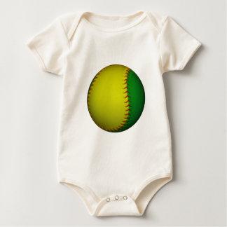 Yellow and Green Baseball Baby Bodysuit