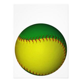 Yellow and Green Baseball Personalized Invitations