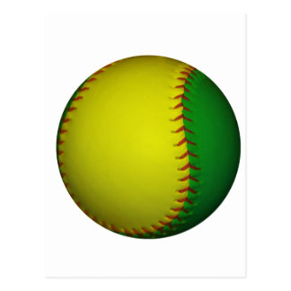 Yellow and Green Baseball Postcard