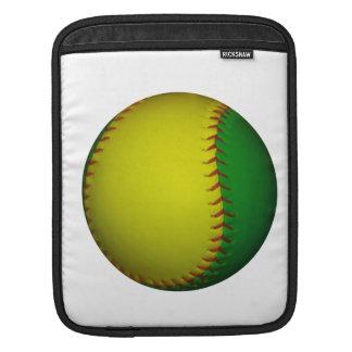 Yellow and Green Baseball Sleeve For iPads