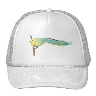 Yellow and Green Bird Trucker Hat