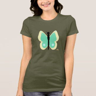 Yellow And Green Butterfly T-Shirt