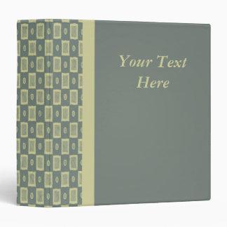 Yellow and green checks - 1.5 inch binder
