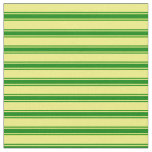 [ Thumbnail: Yellow and Green Colored Lined/Striped Pattern Fabric ]