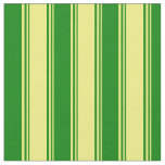 [ Thumbnail: Yellow and Green Colored Pattern Fabric ]