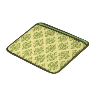 Yellow and Green Damask Patterned MacBook Air Sleeve