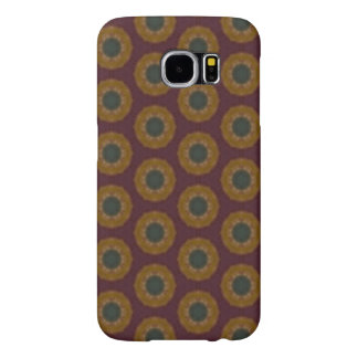 Yellow and green dots pattern samsung galaxy s6 cases