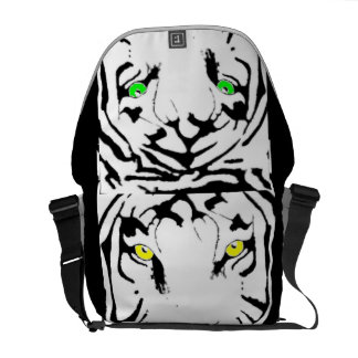 YELLOW AND GREEN EYED BAG COURIER BAG