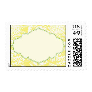 Yellow and Green Floral Design Stamps