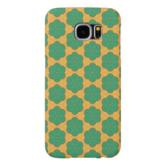 Yellow and green flower pattern samsung galaxy s6 cases