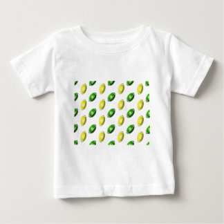 Yellow and Green Football Pattern Baby T-Shirt