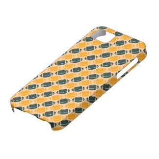 Yellow and green football (rugby) pattern iPhone 5 cases