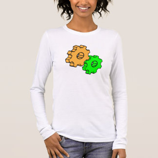 Yellow and green gears long sleeve T-Shirt