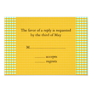 Yellow and Green Gingham Pattern Card