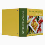 Yellow and green healthy recipe binder