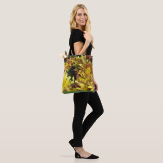 YELLOW AND GREEN MUM GARDEN TOTE! TOTE BAG