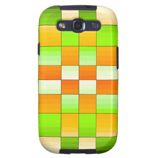 Yellow and Green Optical Illusion Chess Board Galaxy S3 Covers