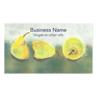 Yellow and Green Pears Professional Double-Sided Standard Business Cards (Pack Of 100)