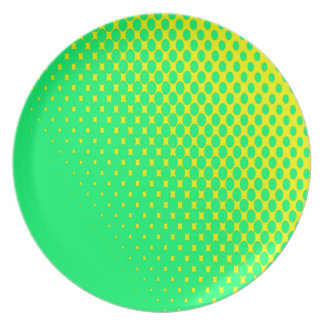 Yellow and Green Plate