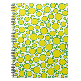 Yellow and Green Polka Dots Notebook