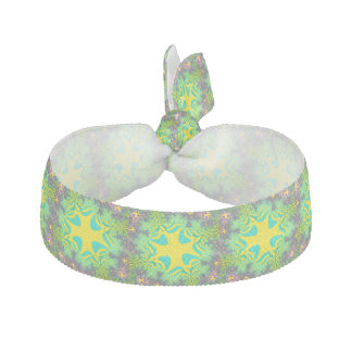 Yellow and Green Rainbow Star Hair Tie