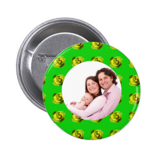 Yellow and Green Rose 2 Inch Round Button
