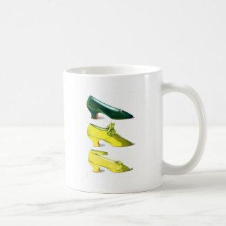 Yellow and Green Shoes Coffee Mug