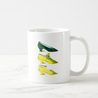 Yellow and Green Shoes Coffee Mugs