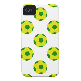 Yellow and Green Soccer Ball Pattern iPhone 4 Covers