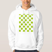 Yellow and Green Soccer Ball Pattern Hoodie