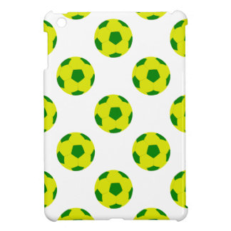 Yellow and Green Soccer Ball Pattern iPad Mini Cases