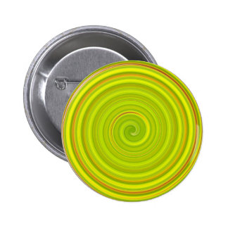 Yellow and green spiral pattern pin