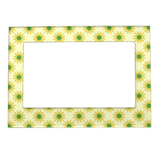 Yellow And Green Spring Daisies Picture Frame