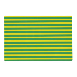 Yellow and Green Stripes Laminated Placemat