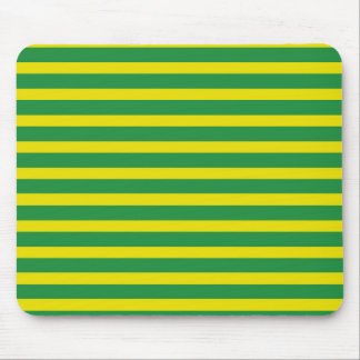 Yellow and Green Stripes Mousepad