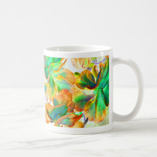 yellow and green succulent colorized coffee mug