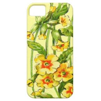 Yellow and Green Vintage Floral Vine Pattern iPhone 5 Case