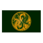 Yellow and Green Yin Yang Phoenix Double-Sided Standard Business Cards (Pack Of 100)