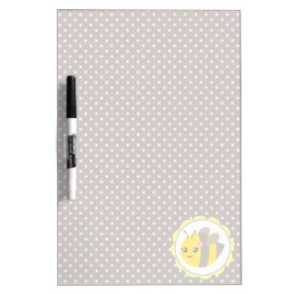 Yellow and Grey Baby Bee Dry Erase Whiteboards