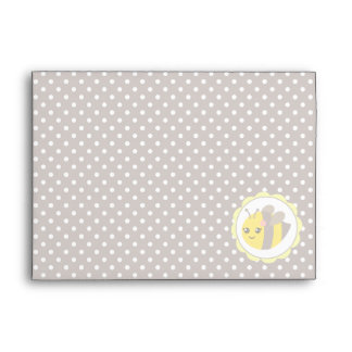 Yellow and Grey Baby Bee Envelopes