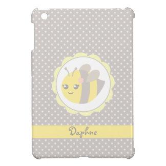 Yellow and Grey Baby Bee iPad Mini Cover