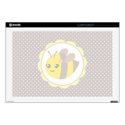 Yellow and Grey Baby Bee Laptop Skin