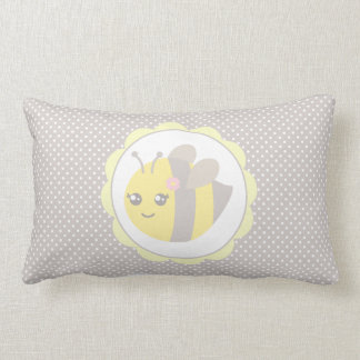 Yellow and Grey Baby Bee Pillows