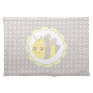 Yellow and Grey Baby Bee Place Mat