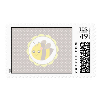 Yellow and Grey Baby Bee Postage Stamps