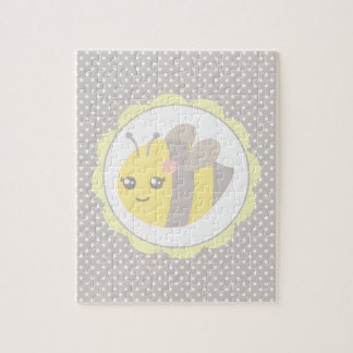 Yellow and Grey Baby Bee Jigsaw Puzzle