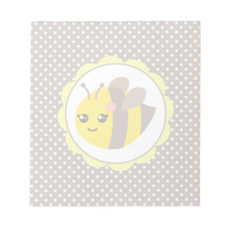 Yellow and Grey Baby Bee Scratch Pad